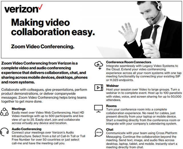 Verizon: Zoom Video Deal Highlights Challenges To Wireline Business