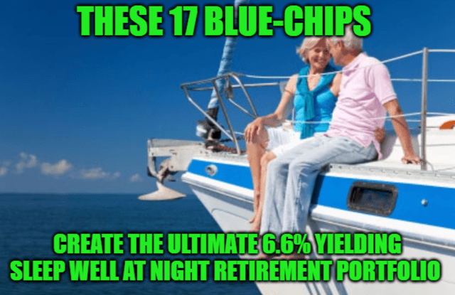 Build The Ultimate, 6.6%-Yielding, Sleep-Well-At-Night Retirement Portfolio With These 17 Blue-Chips