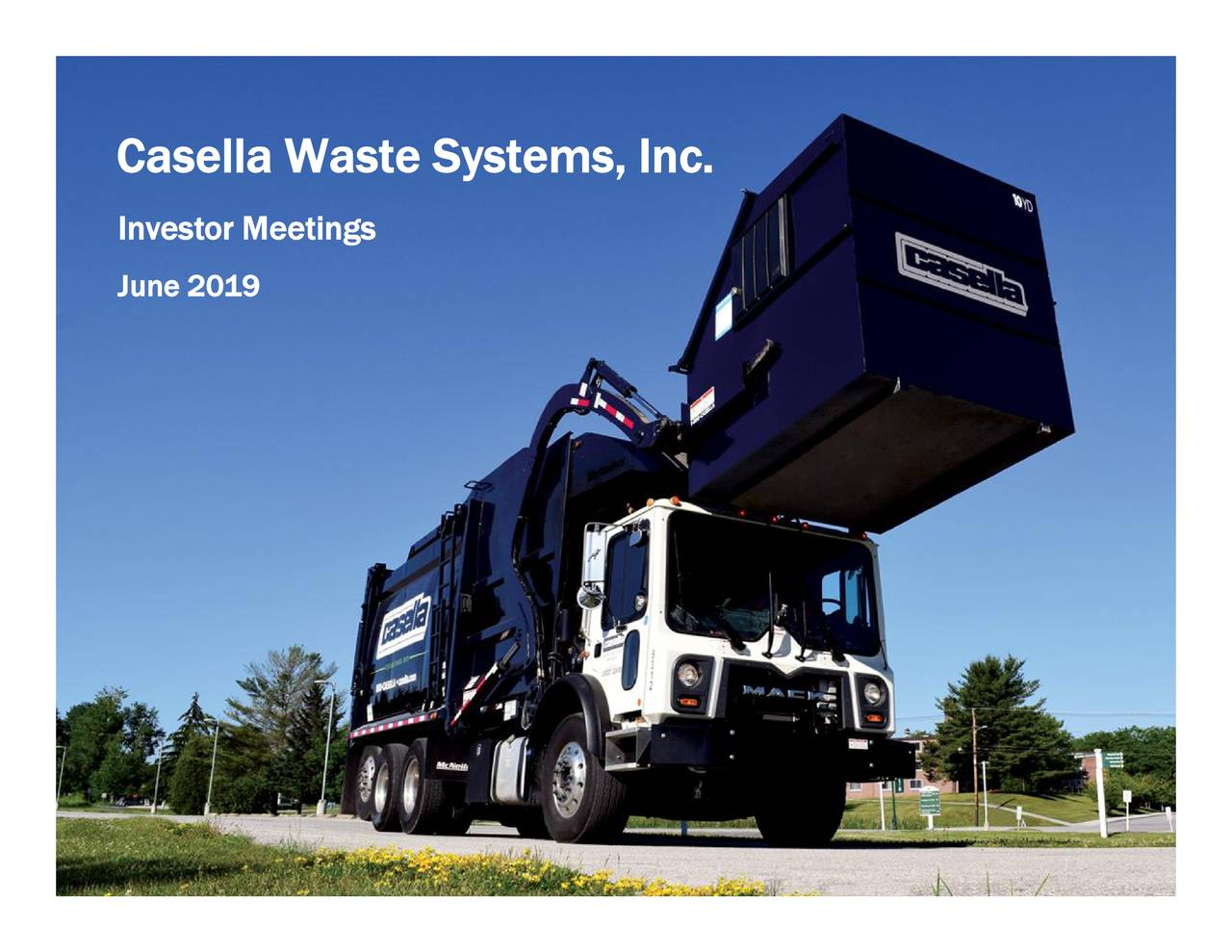 Casella Waste Systems (CWST) Presents At UBS Global Industrials and Transportation Conference - Slideshow
