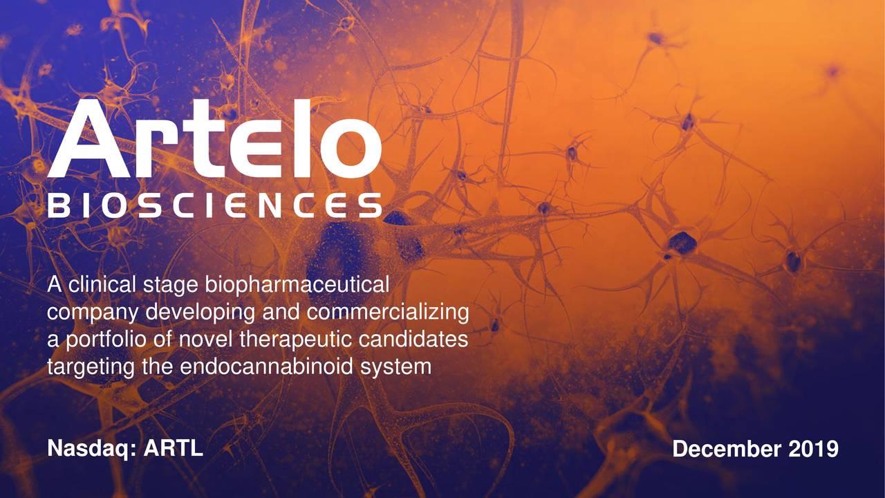 Artelo Biosciences (ARTL) Investor Presentation - Slideshow - Artelo Biosciences, Inc. (NASDAQ:ARTL) | Seeking Alpha
