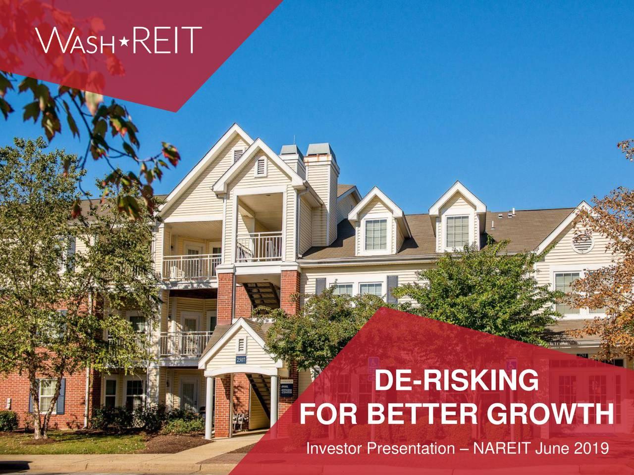 Washington Real Estate Investment Trust (WRE) Presents At NAREIT 2019 Investor Conference - Slideshow