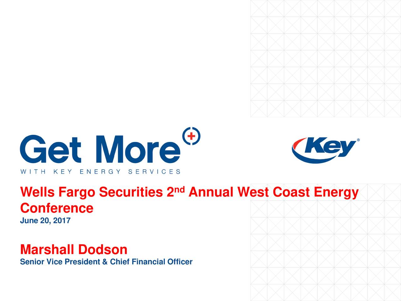 Wells Fargo Securities 2 Annual West Coast Energy Conference June 20, 2017 Marshall Dodson Senior Vice President & Chief Financial Officer