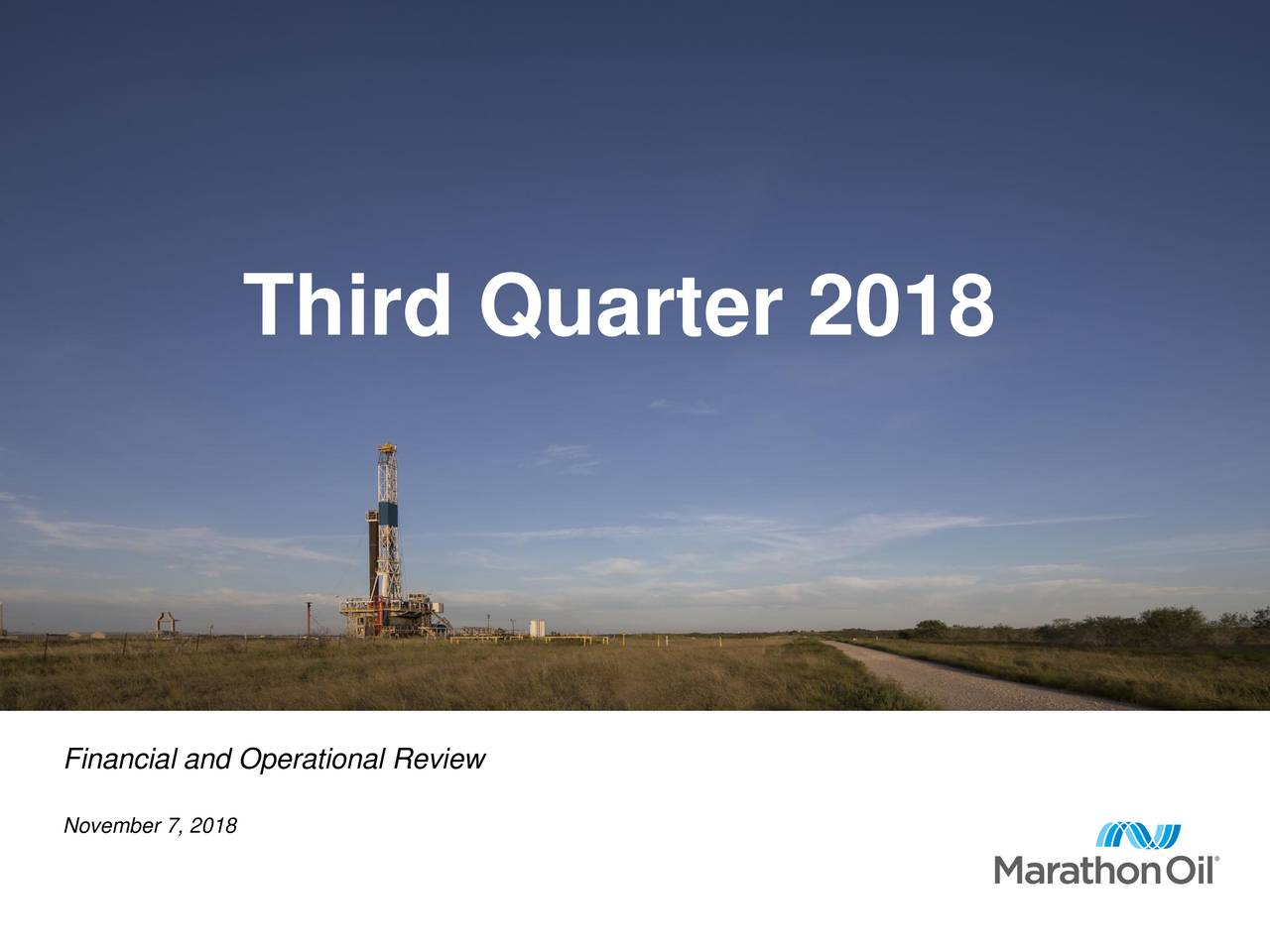 Financial and Operational Review November 7, 2018