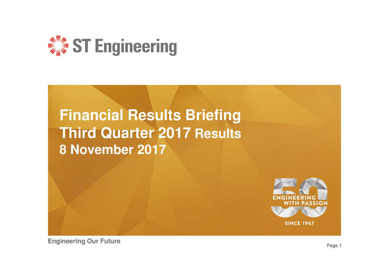 Results FinanidiQvuabuet201riefing Engineering Our Future