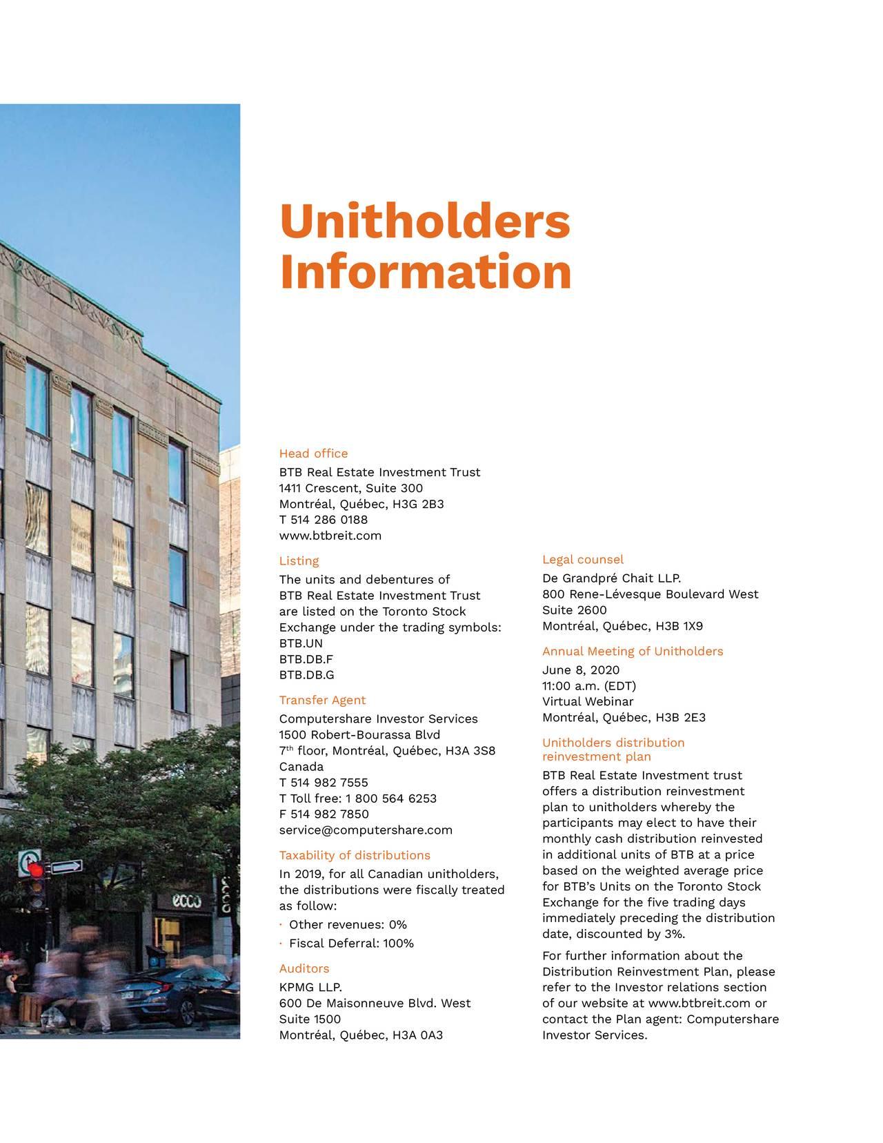 Unitholders