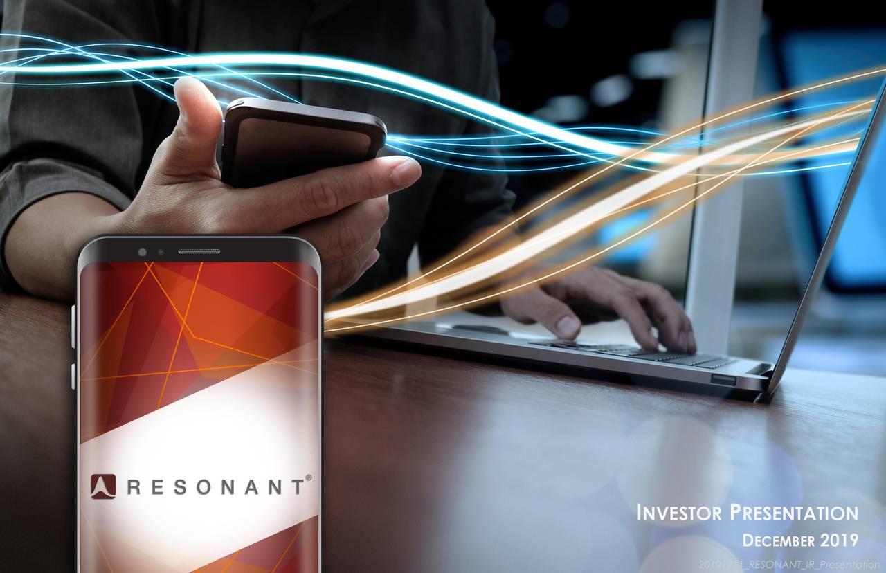 Resonant (RESN) Presents At LD Micro Main Event - Slideshow - Resonant Inc. (NASDAQ:RESN) | Seeking Alpha
