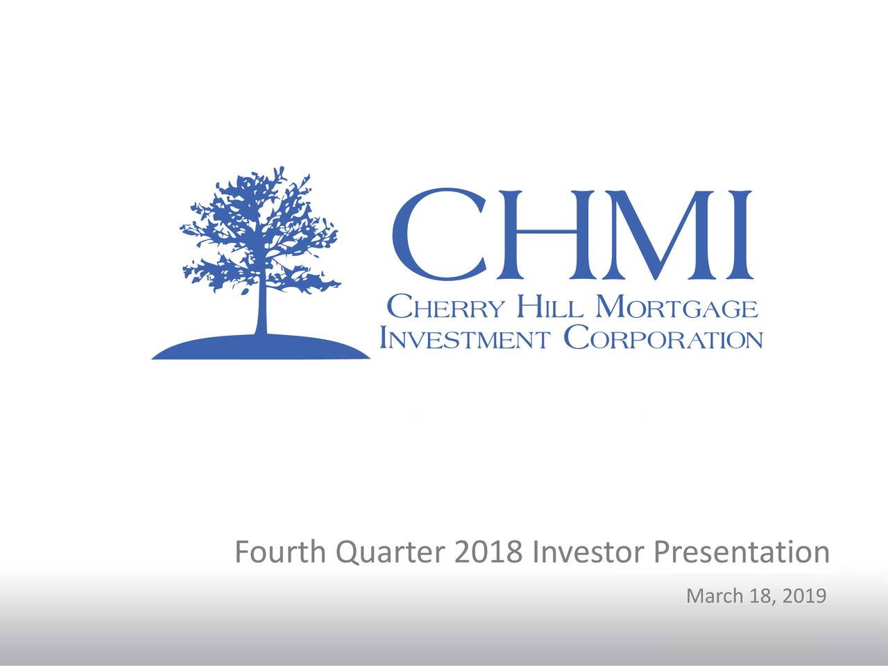 Fourth Quarter 2018 Investor Presentation