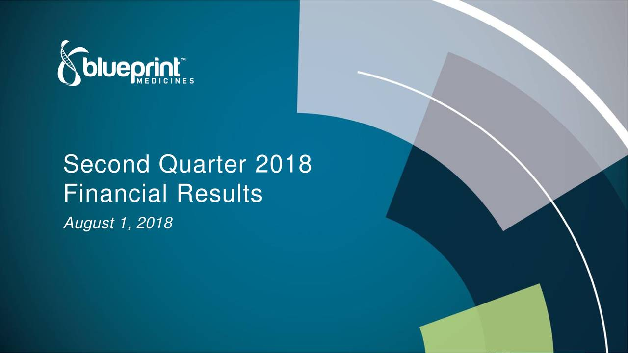 Blueprint medicines 2018 q2 results earnings call slides financial results august 1 malvernweather Choice Image