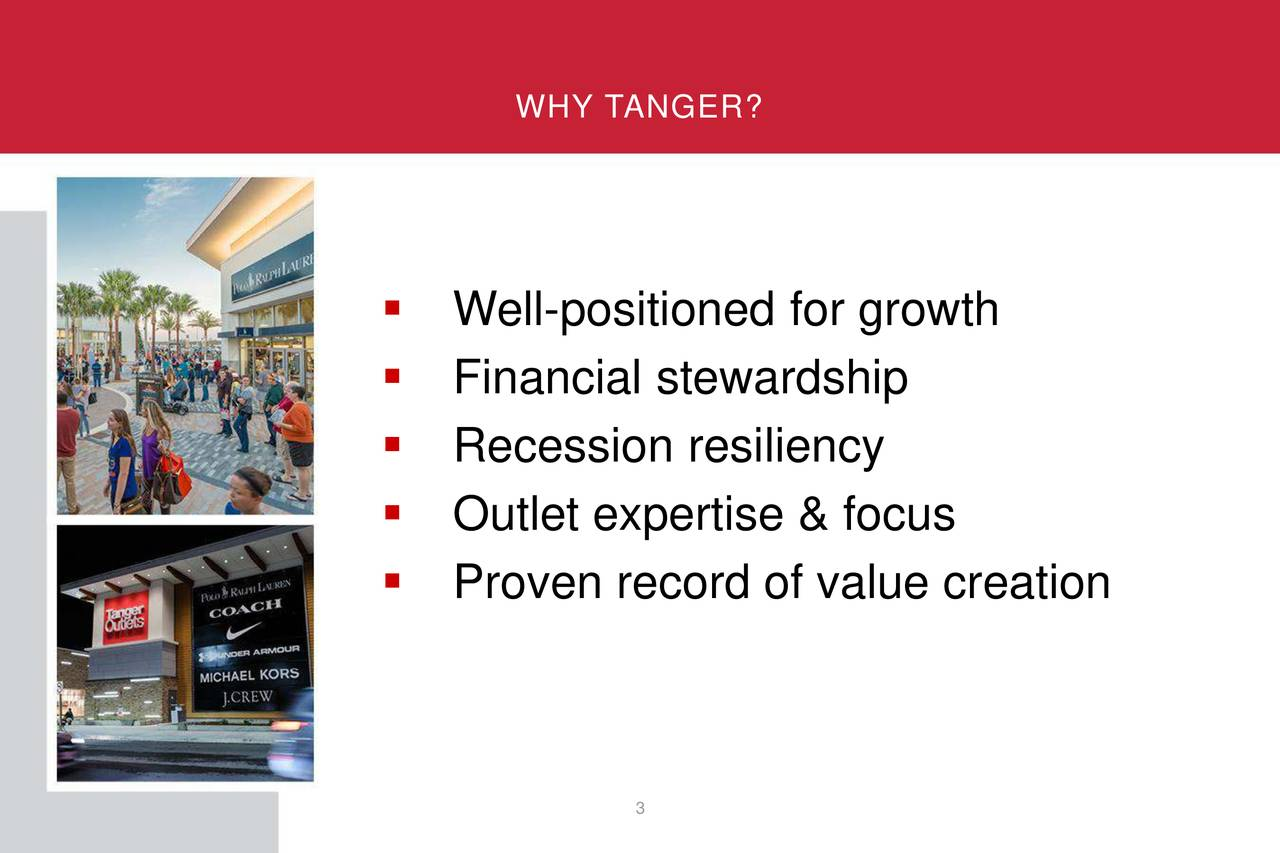 ▪ Well-positioned for growth ▪ Financial stewardship ▪ Recession resiliency ▪ Outlet expertise & focus ▪ Proven record of value creation 3
