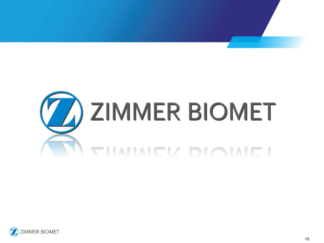Zimmer biomet zbh presents at 35th annual j p morgan for Zimmer holdings