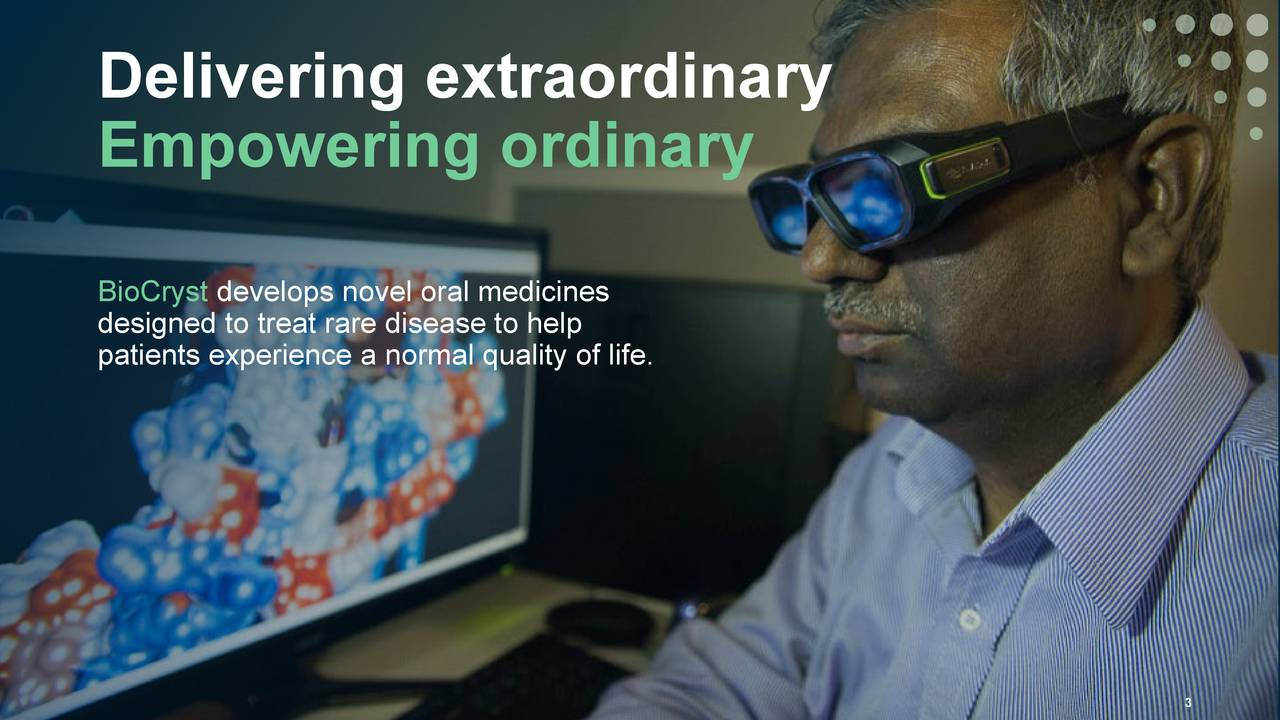 Empowering ordinary BioCryst develops novel oral medicines designed to treat rare disease to help patients experience a normal quality of life.