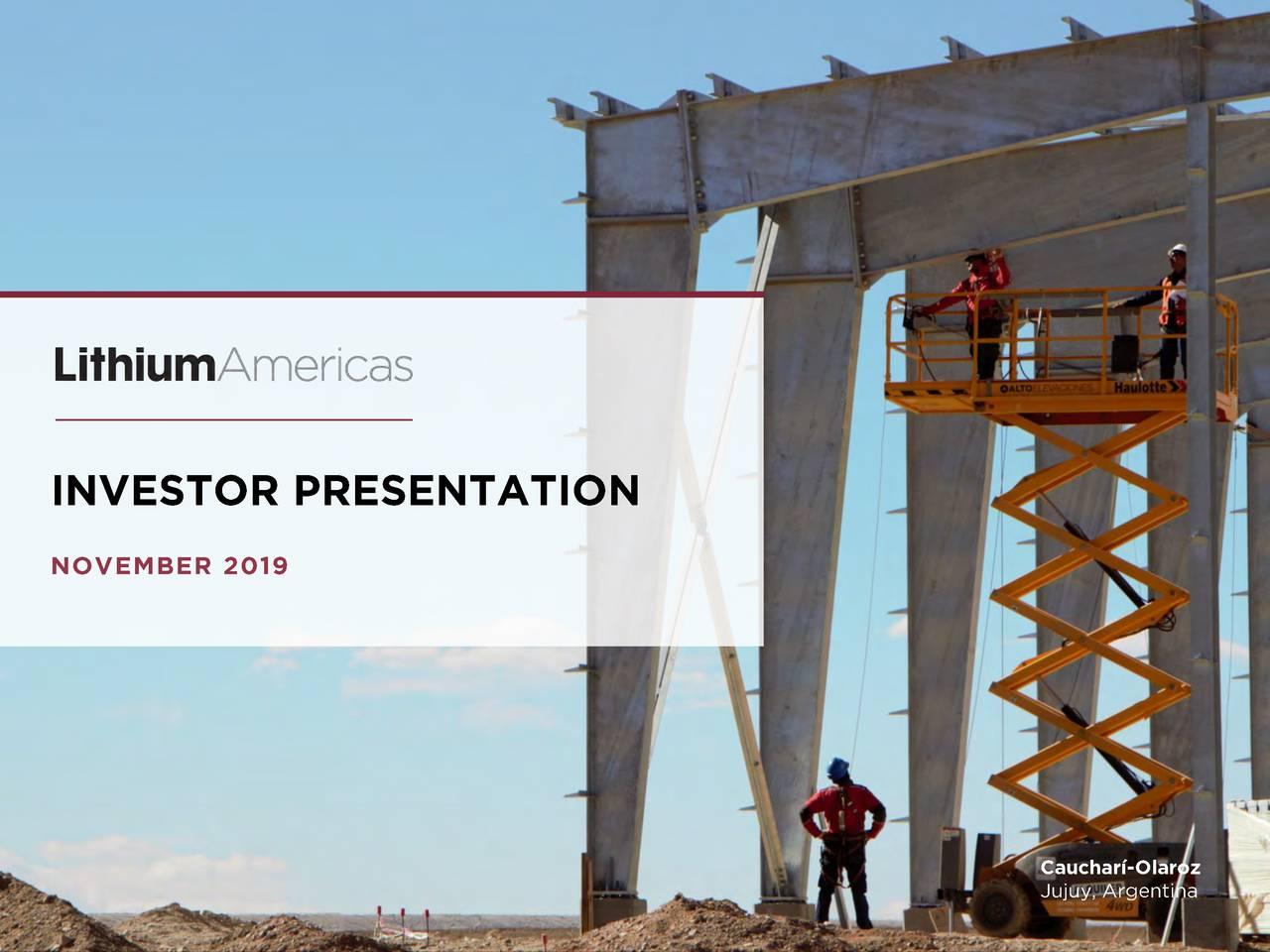 Lithium Americas (LAC) Investor Presentation - Slideshow - Lithium Americas Corp. (NYSE:LAC) | Seeking Alpha