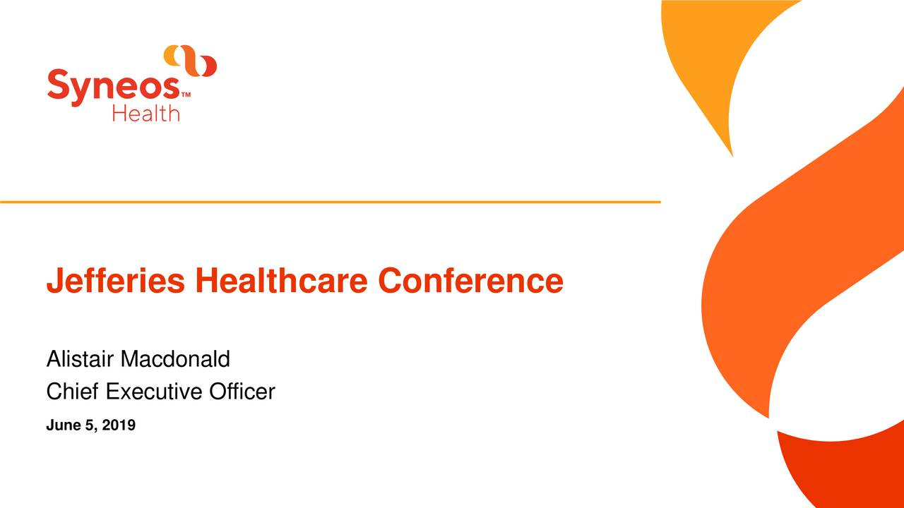 Syneos Health (SYNH) Presents At Jefferies 2019 Healthcare Conference - Slideshow