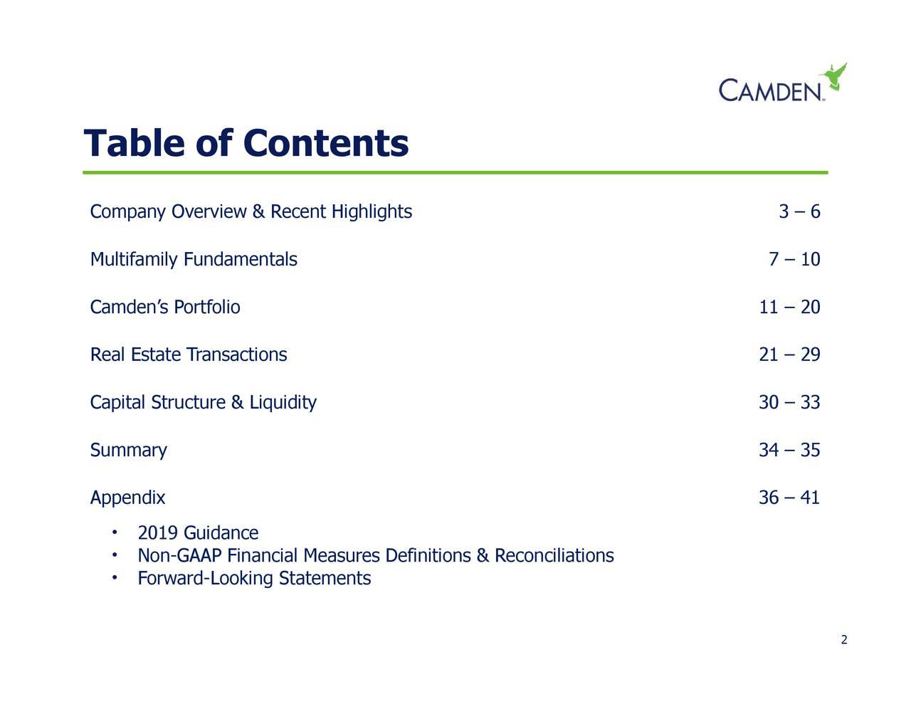 34 – 356 – 41 0N9oGurAAPcFiookciglMtatsuresDefinitions & Reconciliations • • • Table of ContentsfCaileRn'slosepialumrucAppendixiquidity