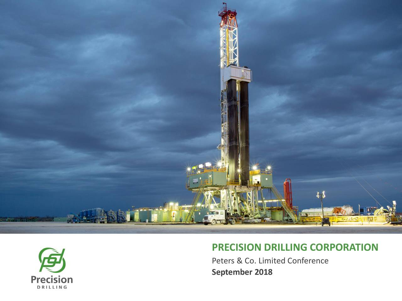 PRECISION DRILLING CORPORATION Peters & Co. Limited Conference September 2018 | 1