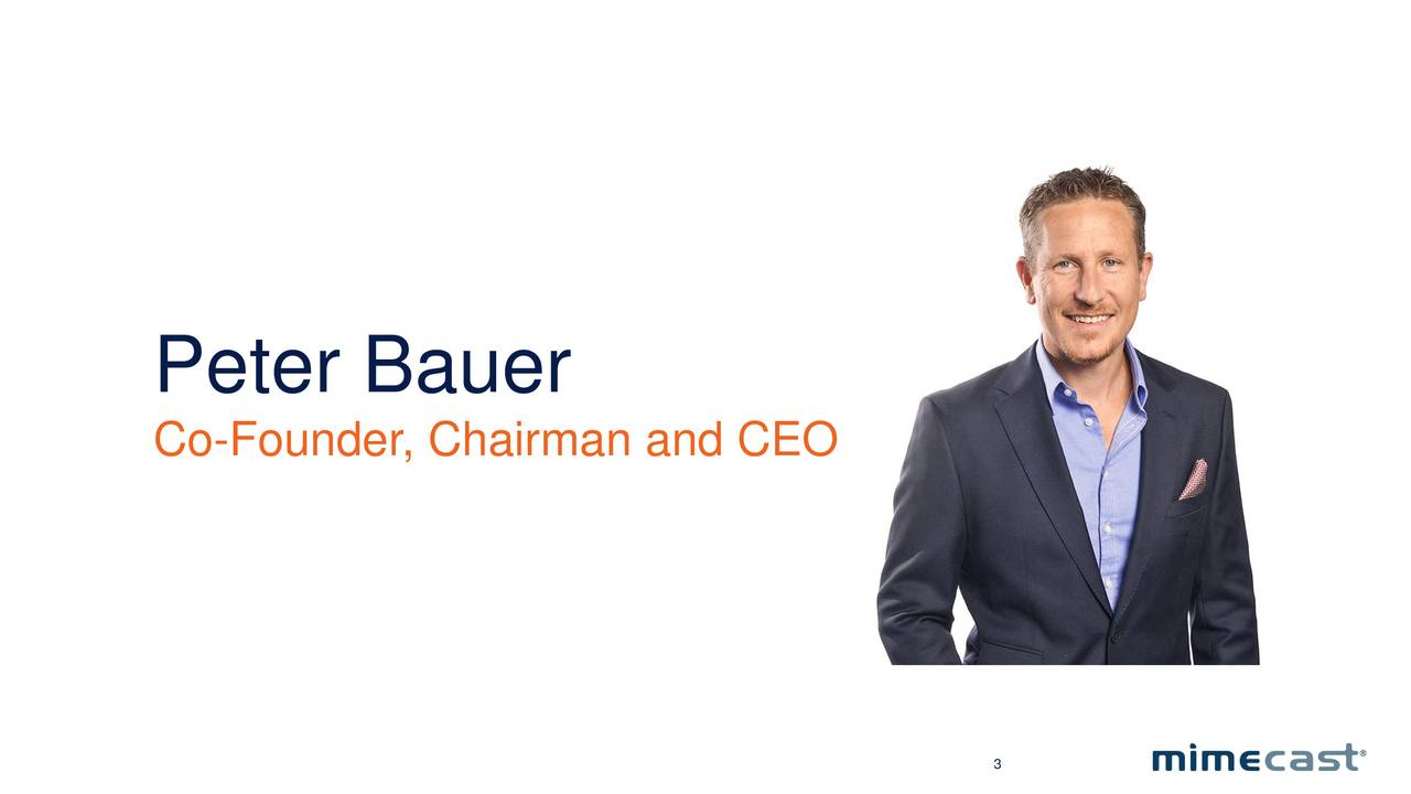 Co-Founder, Chairman and CEO 3