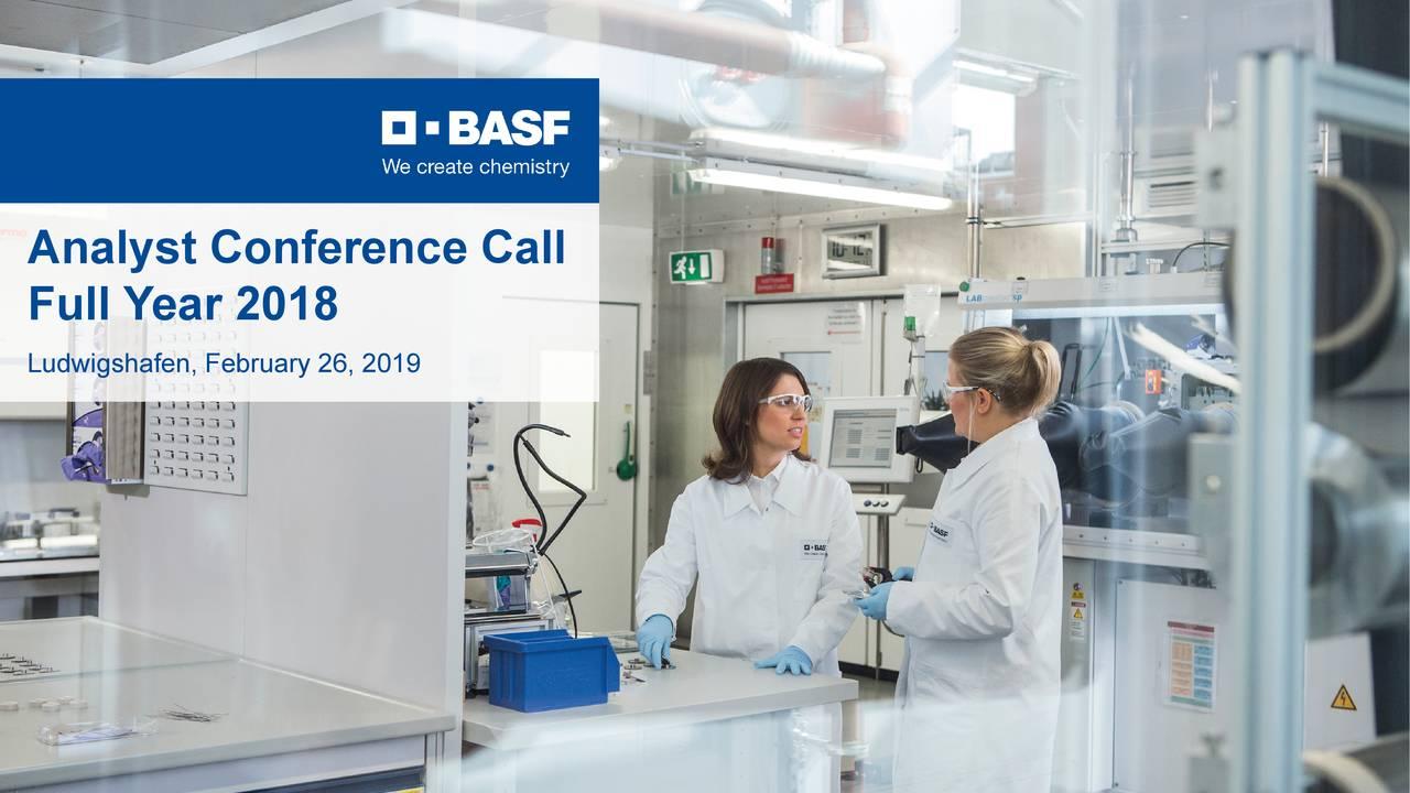 BASF SE ADR 2018 Q4 - Results - Earnings Call Slides - BASF