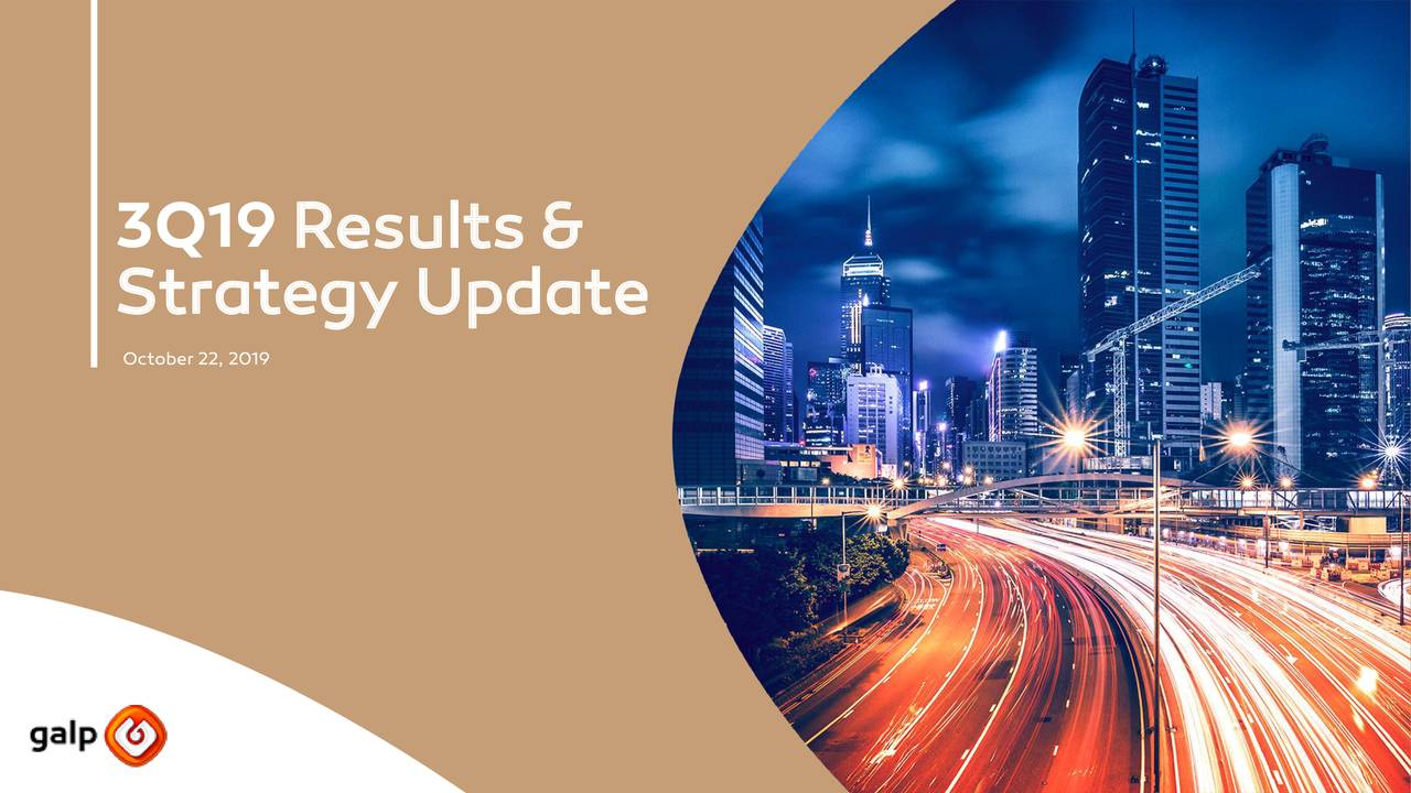Galp Energia, SGPS, S.A. 2019 Q3 - Results - Earnings Call Presentation