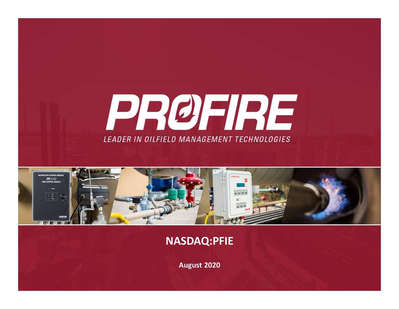 Profire Energy, Inc. 2020 Q2 - Results - Earnings Call Presentation (NASDAQ:PFIE)