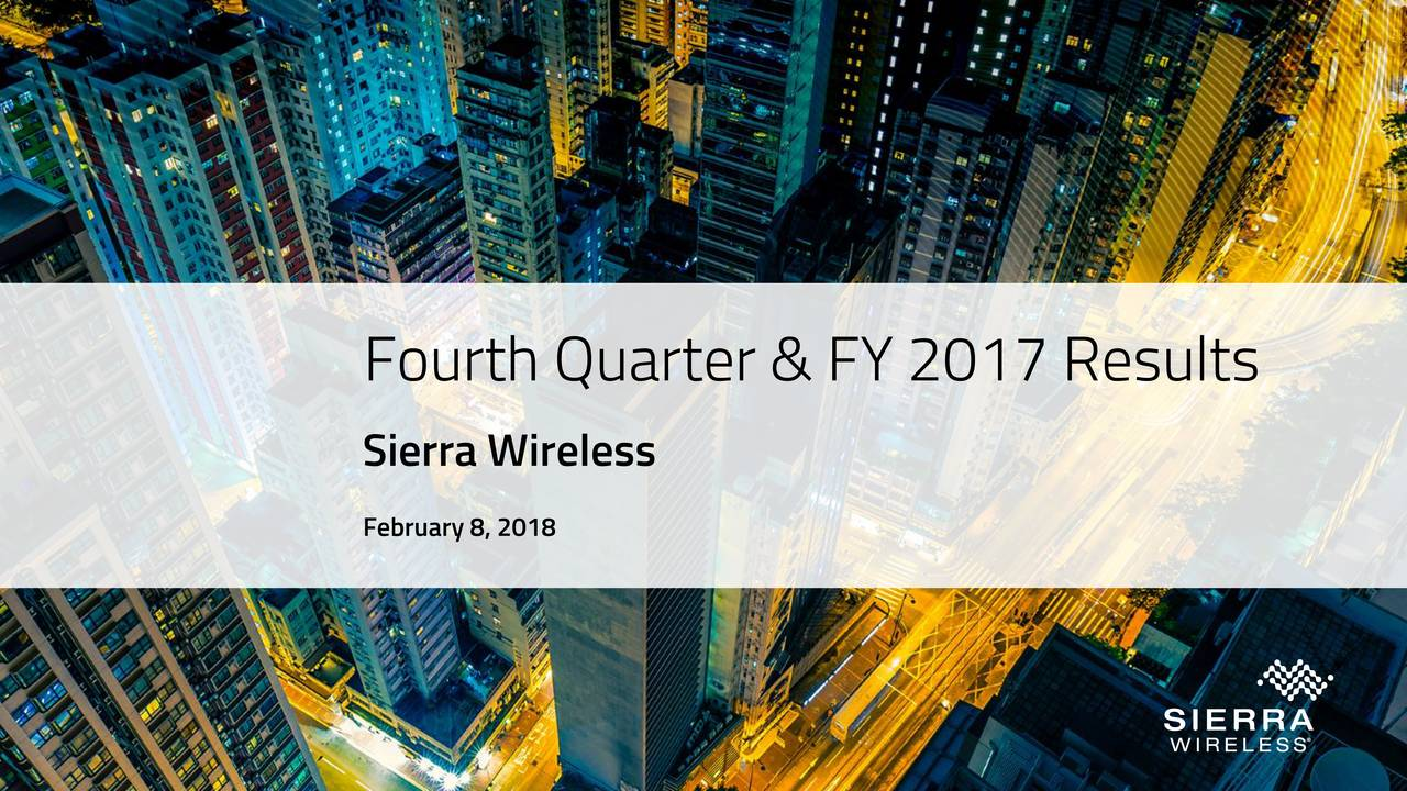 Sierra Wireless February 8, 2018