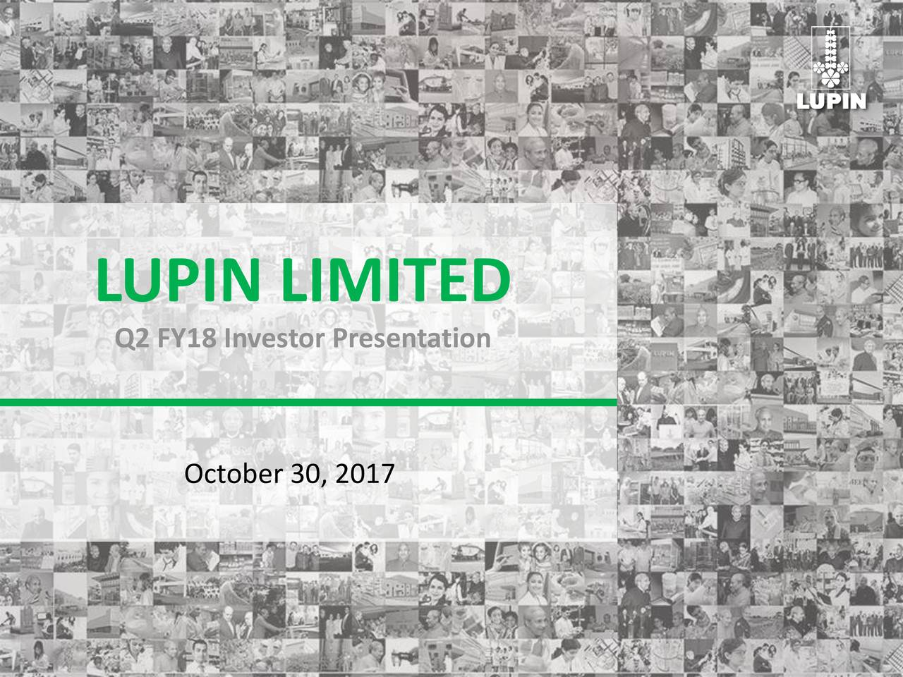 Lupin Ltd ADR 2017 Q2 - Results - Earnings Call Slides