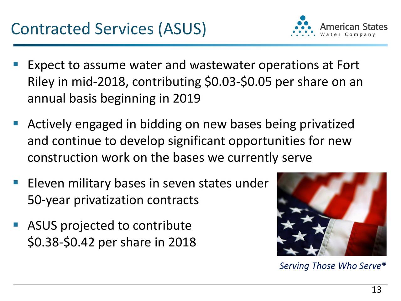American States Water Co 2018 Q1 Results Earnings Call Slides