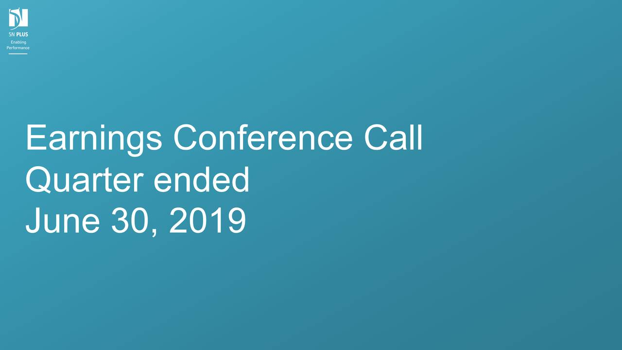 Earnings Conference Call