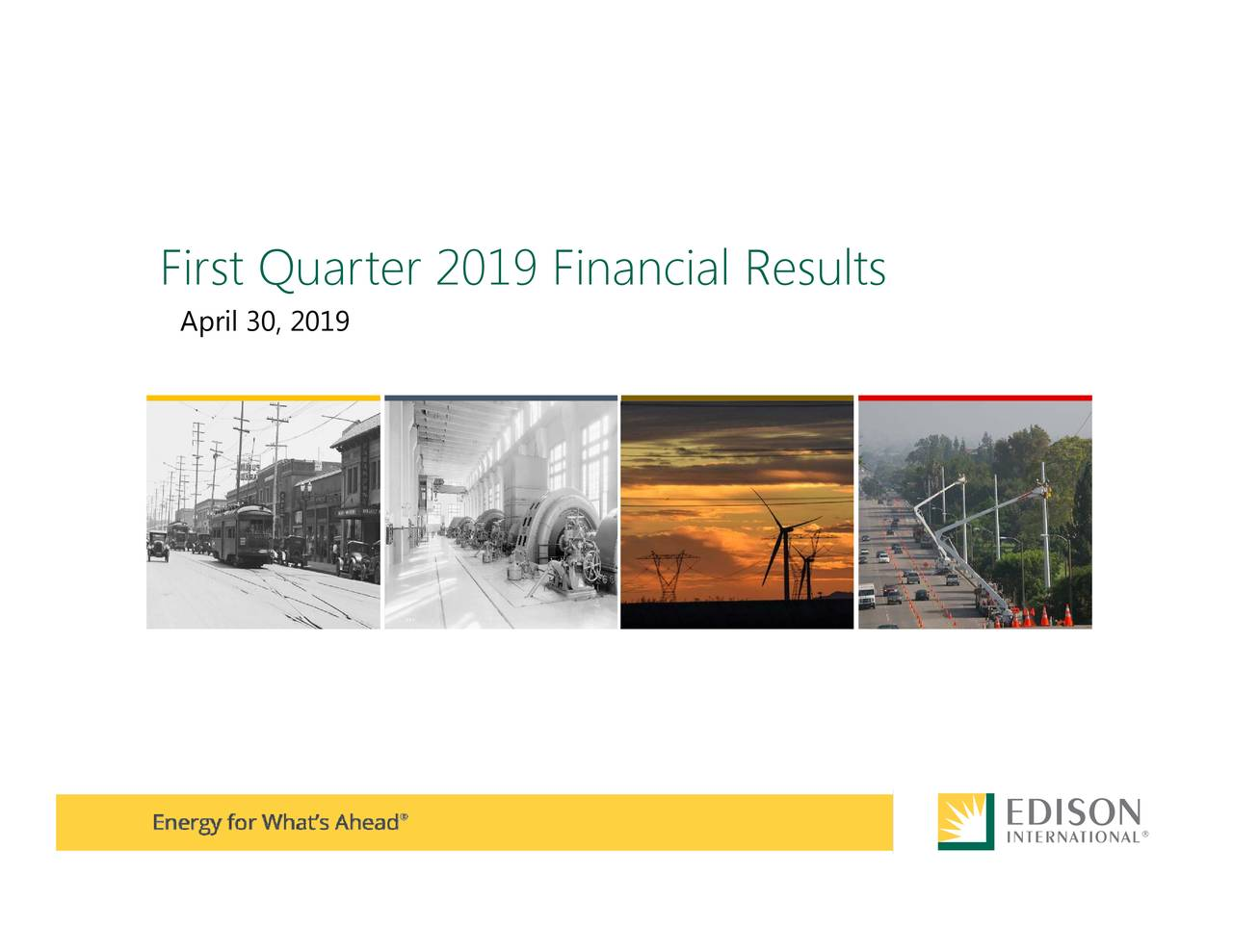 First Quarter 2019 Financial Results