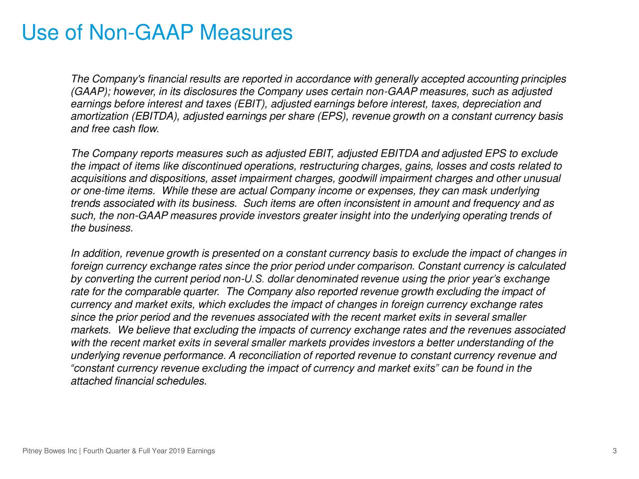 Use of Non-GAAP Measures