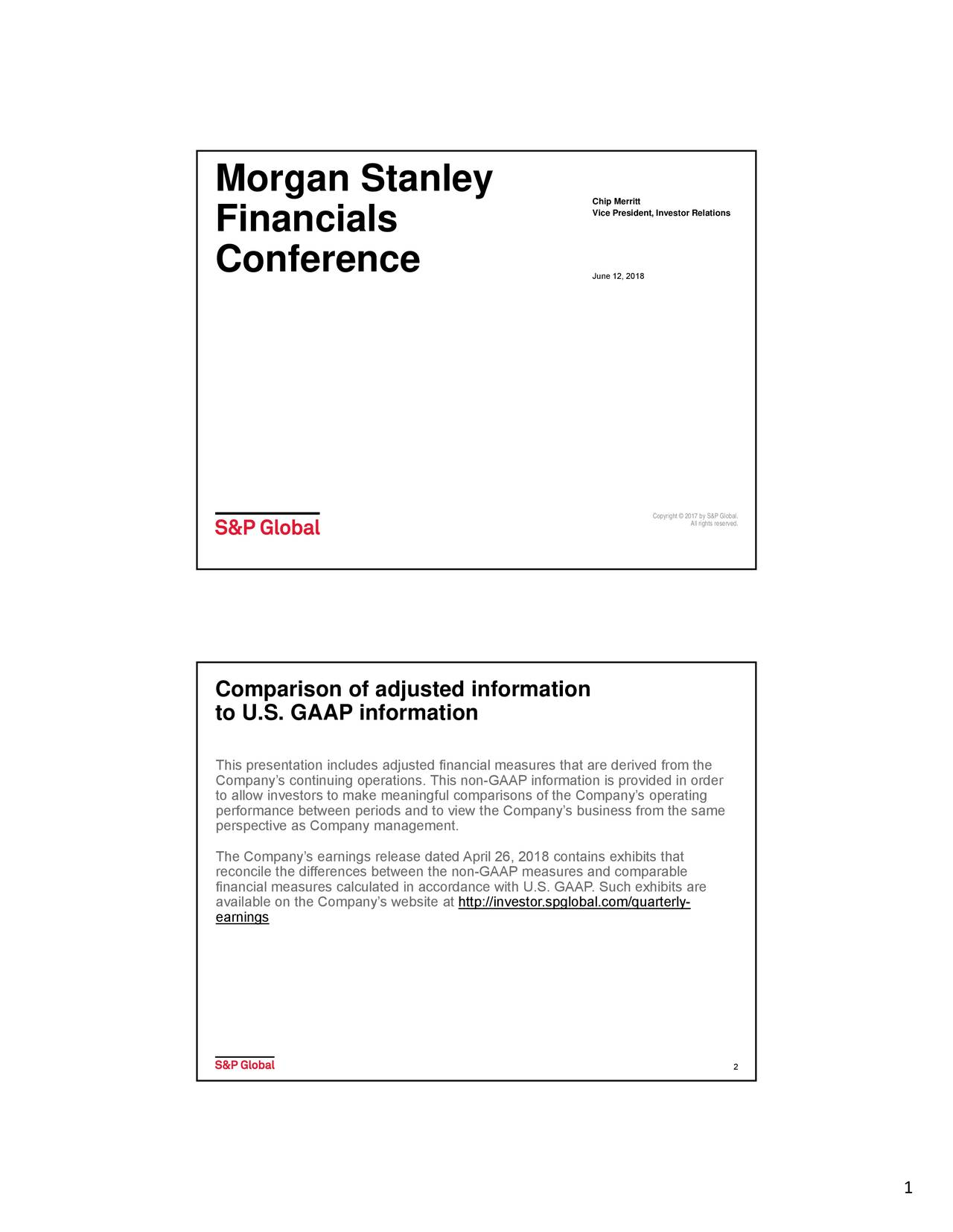 Morgan Stanley Investor Relations >> S P Global Spgi Presents At Morgan Stanley Financials Conference