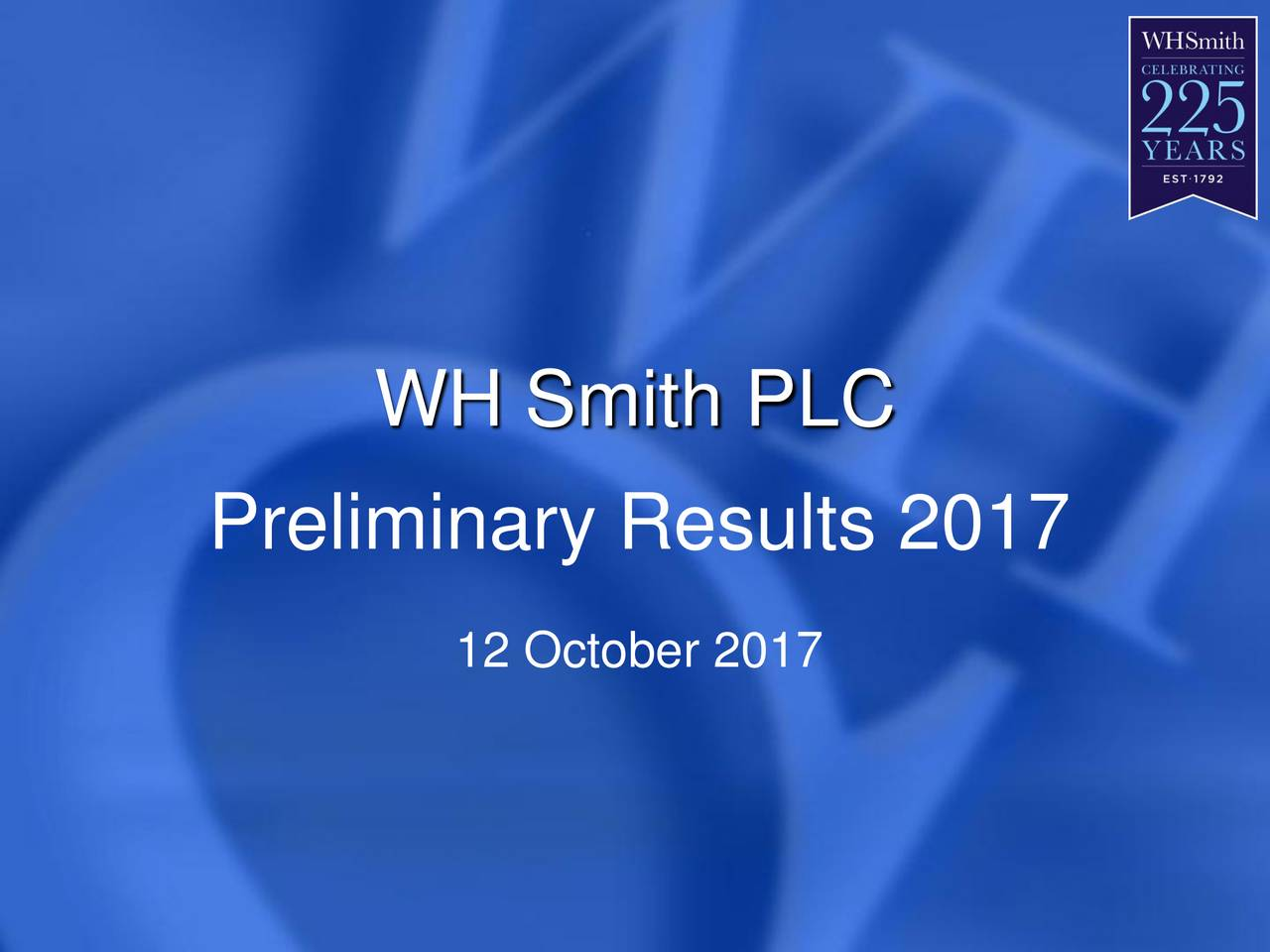 wh smith plc Wh smith plc is one of the uk's leading retailers and is made up of two core businesses – travel and high street the travel business operates 586 units, mainl y in airports, railway stations, motorway service areas, hospitals and workplaces, primarily in the uk.