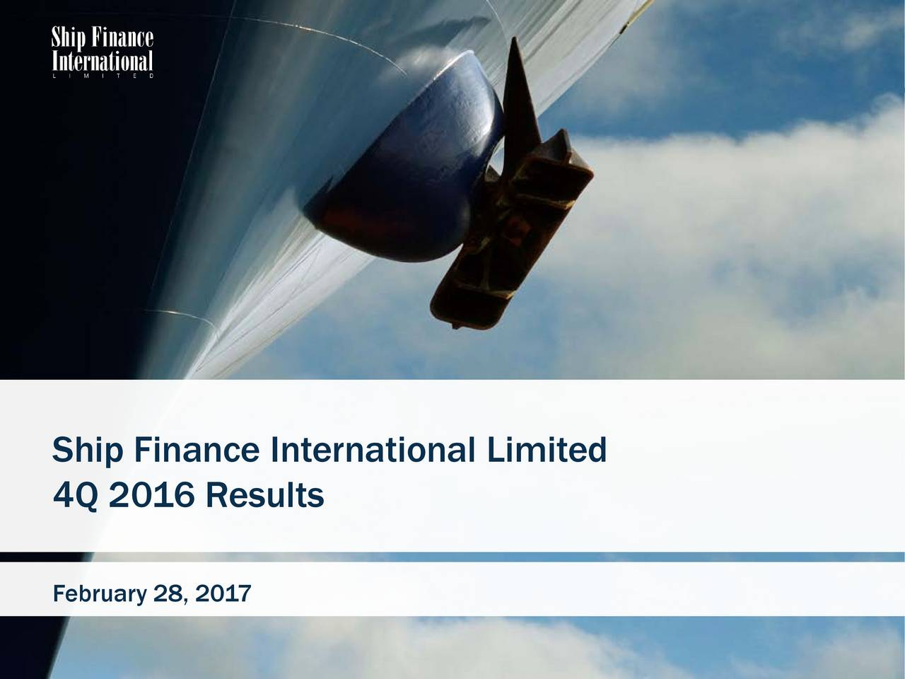 4Q 2016 Results February 28, 2017 1