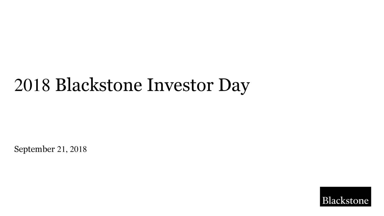 blackstone group k 1 The Blackstone Group (BX) Investor Presentation - Slideshow - The ...