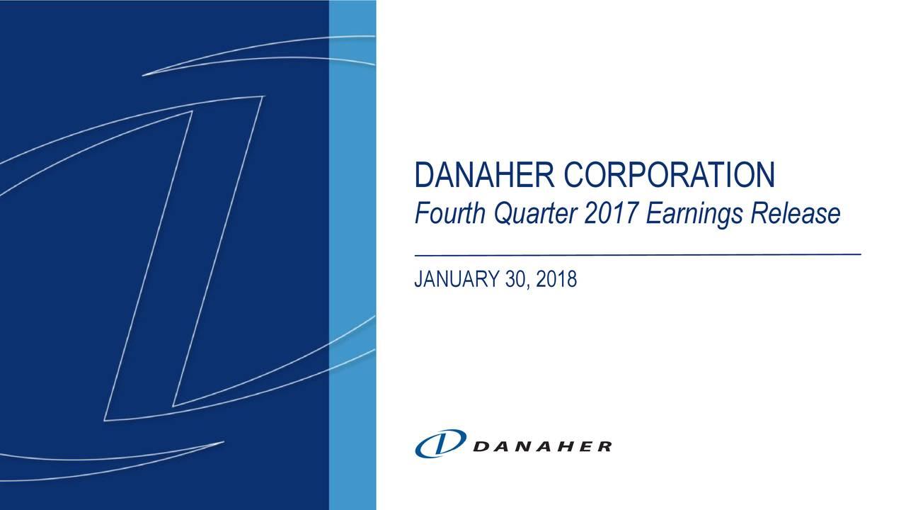 Earnings Disclaimer >> Danaher Corporation 2017 Q4 - Results - Earnings Call Slides - Danaher Corporation (NYSE:DHR ...