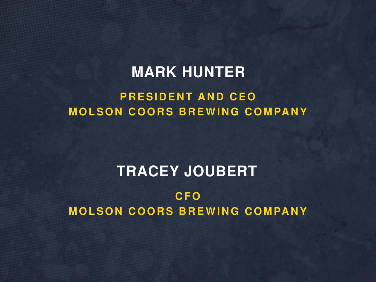 J.p. Morgan Ceo Wife Molson Coors Brewing C...