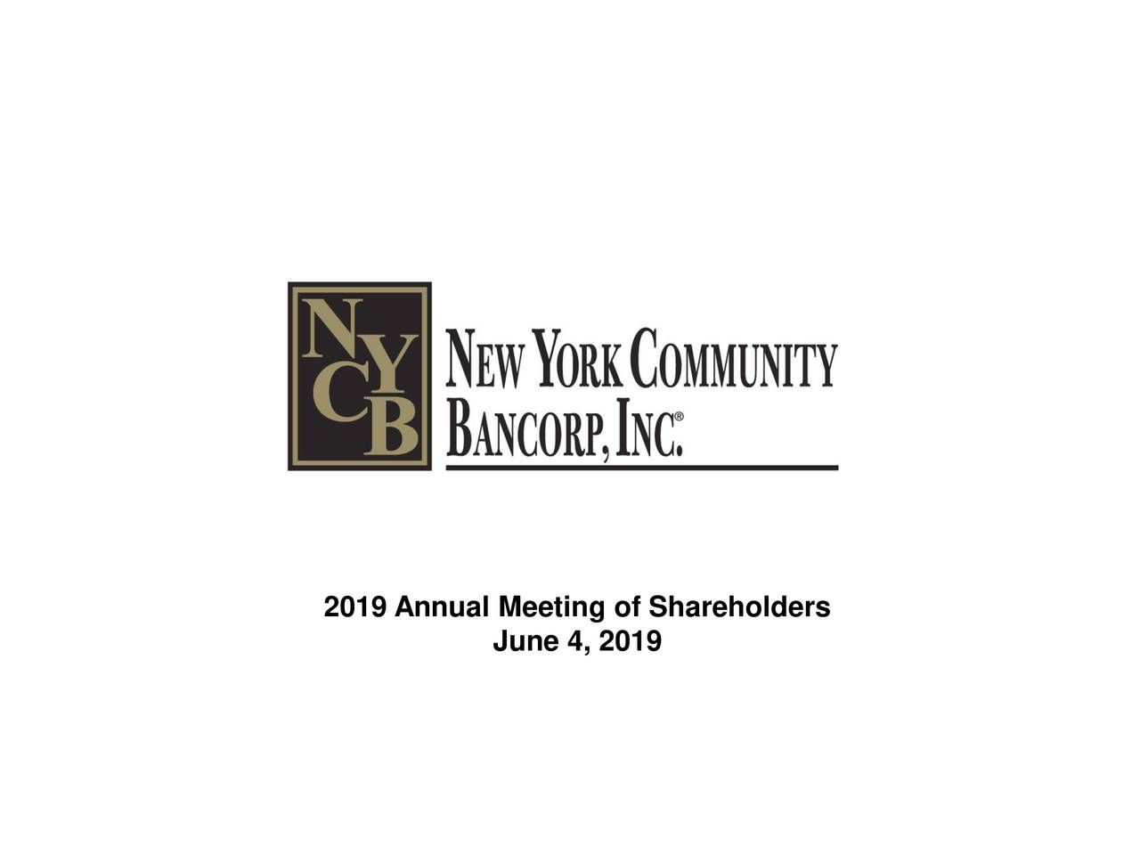 2019 Annual Meeting of Shareholders