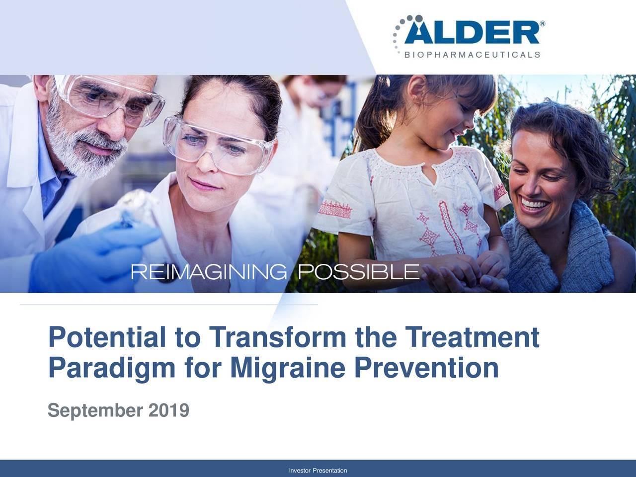 Alder Biopharmaceuticals (ALDR) Investor Presentation - Slideshow
