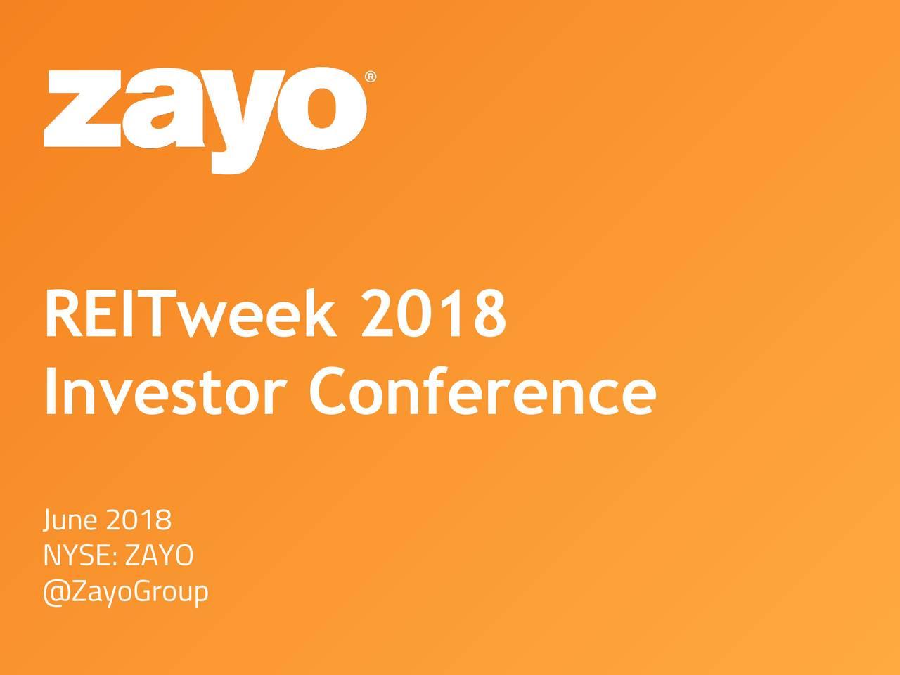 Zayo (ZAYO) Presents At NAREIT REITweek: 2018 Investor