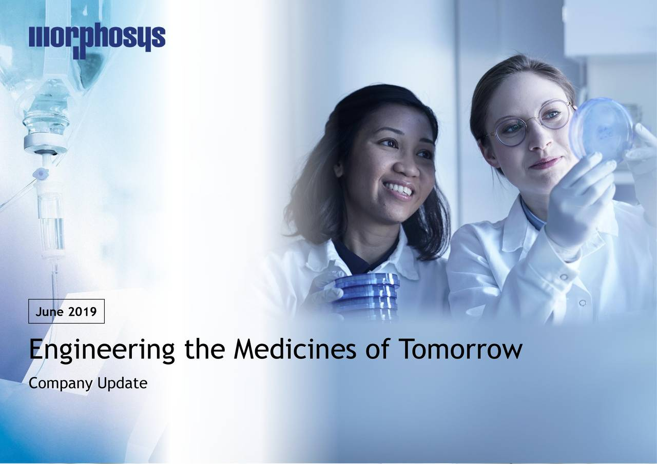 Engineering the Medicines of T omorrow Company Update