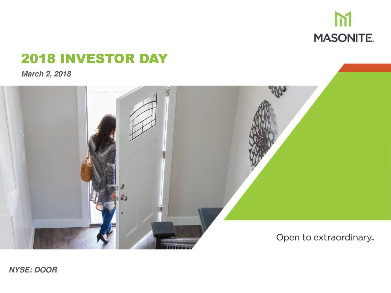 March 2 2018 NYSE DOOR ...  sc 1 st  Seeking Alpha & Masonite International (DOOR) Investor Presentation - Slideshow ...