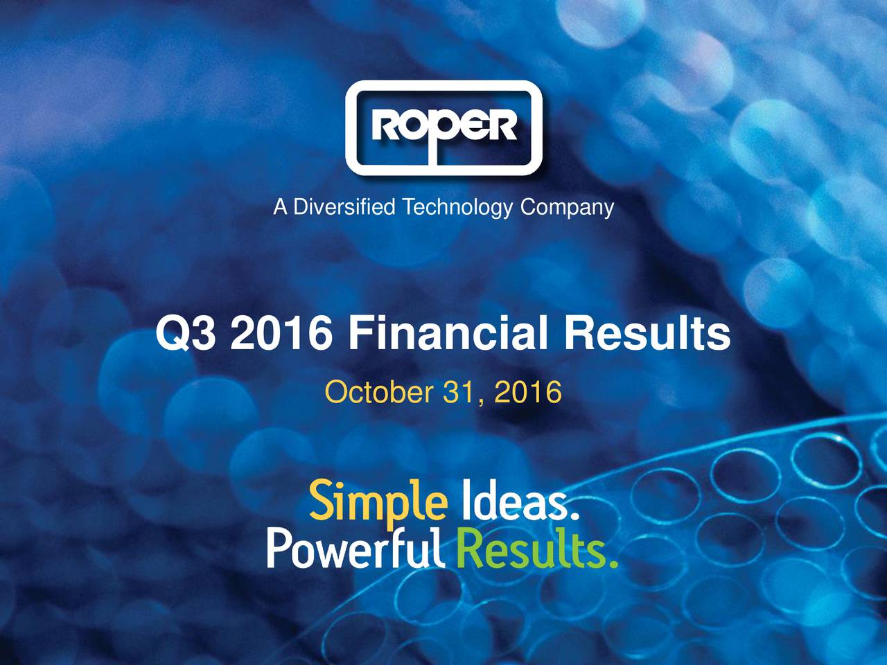 101 164 91 175 A Diversified Technology Company 213 192 192 192 Q3 2016 Financial Results 255 October 31, 2016 210 79 155 187 89