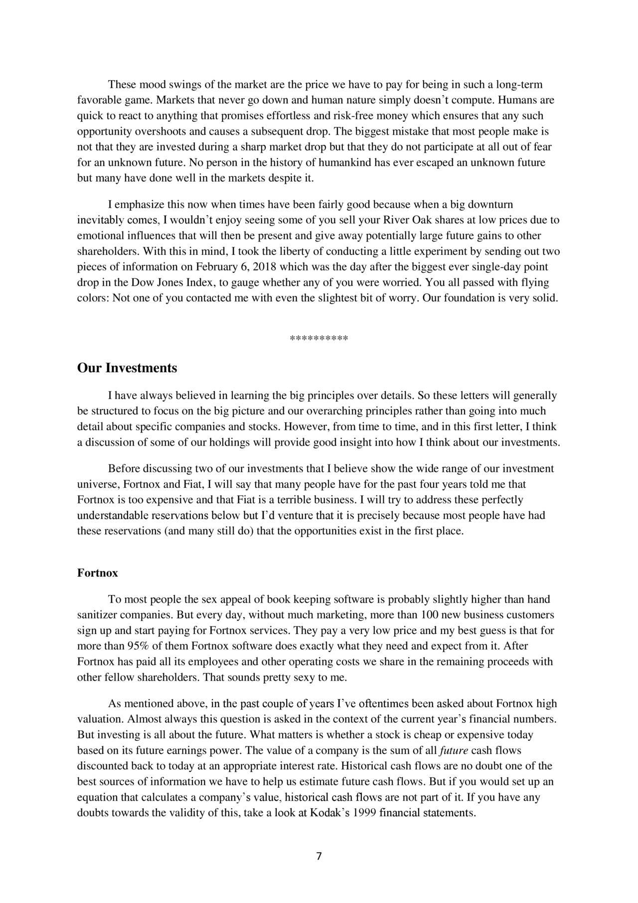 River Oak Capital 2017 Letter To Shareholders - Fiat ...