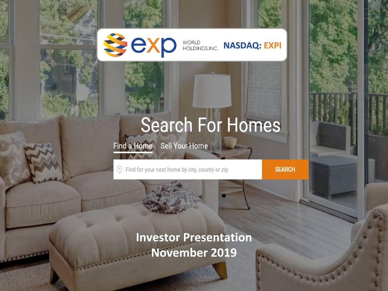 eXp World Holdings (EXPI) Investor Presentation - Slideshow - eXp World Holdings, Inc. (NASDAQ:EXPI) | Seeking Alpha