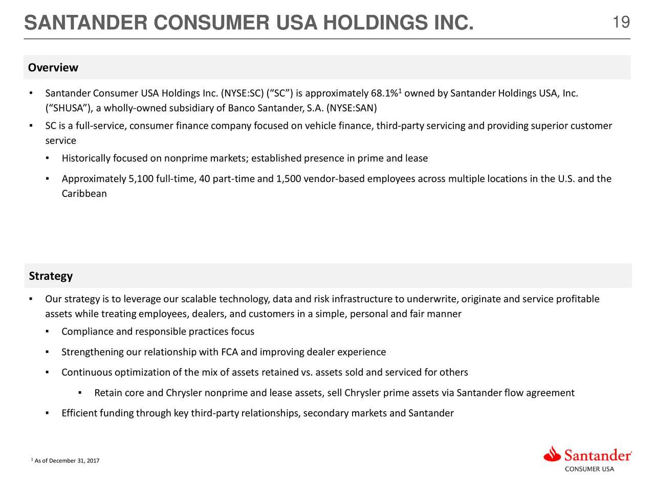 Santander Consumer USA Holdings Inc 2017 Q4