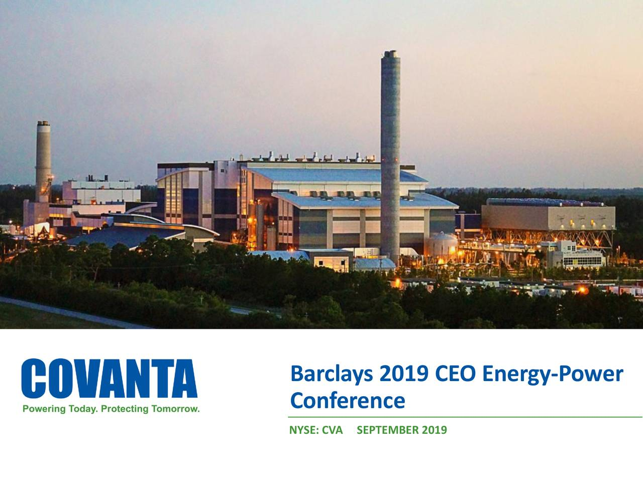 Covanta (CVA) Presents At Barclays CEO Energy Power Conference - Slideshow
