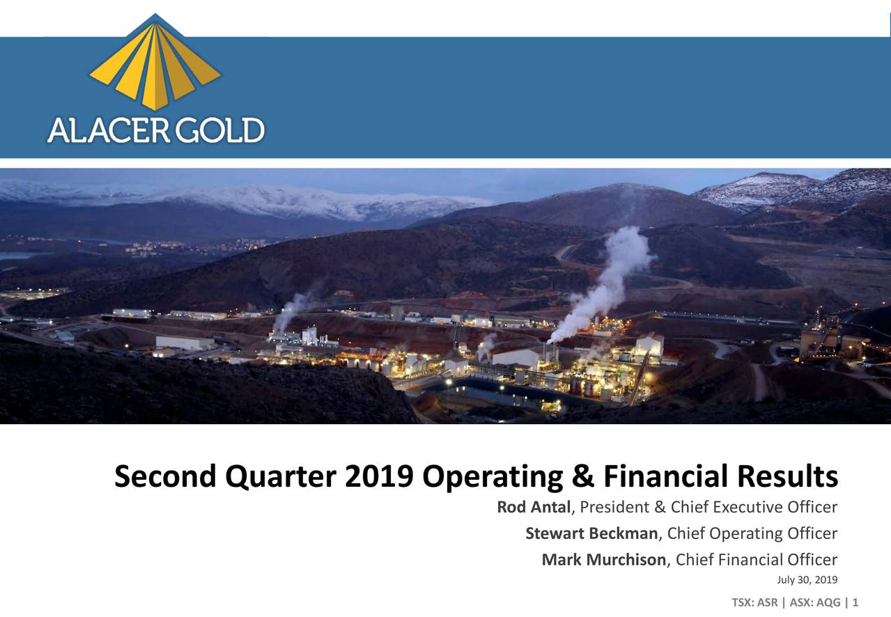 Second Quarter 2019 Operating & Financial Results