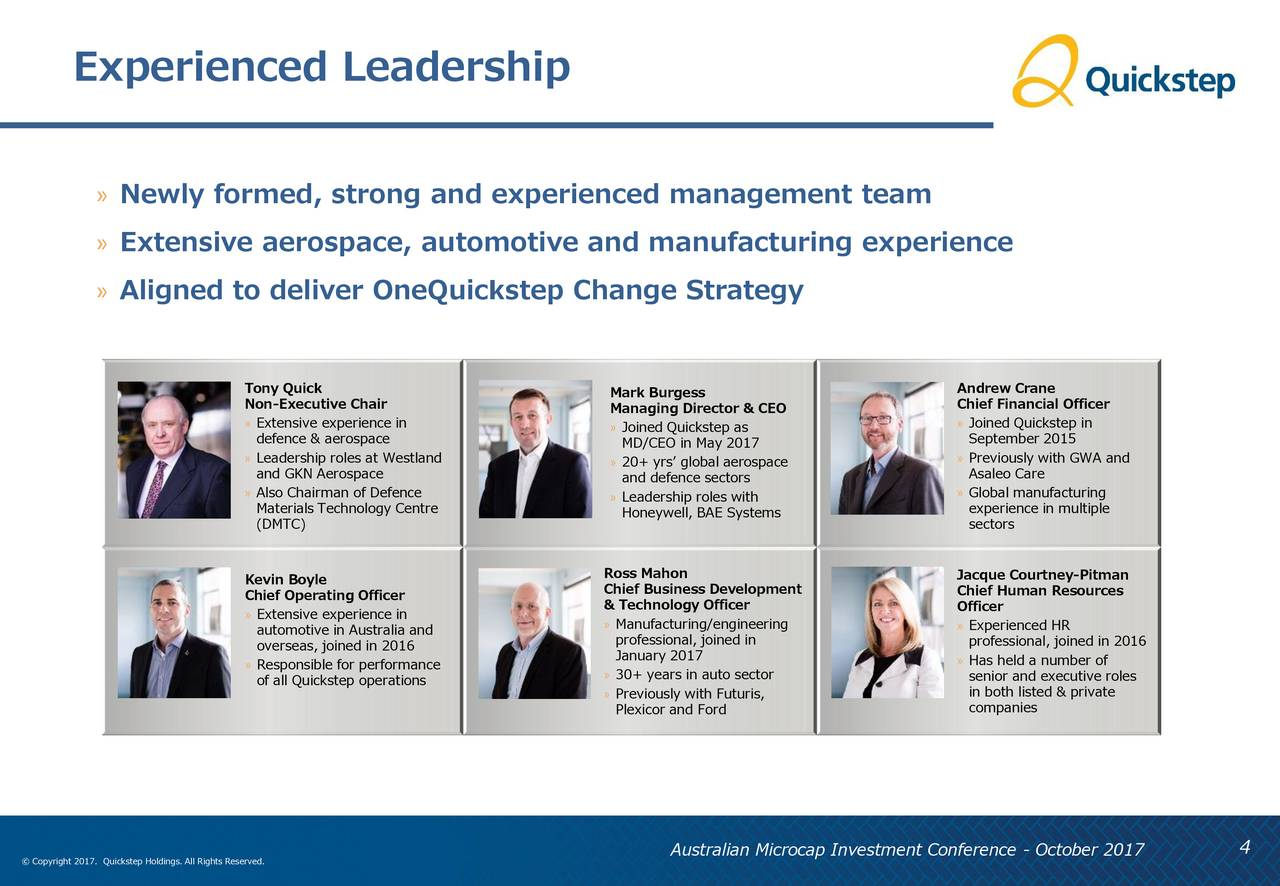 Quickstep Holdings (QCKSF) Presents At 8th Annual ...
