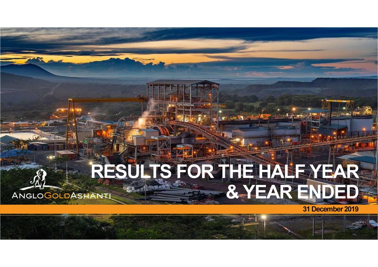 AngloGold Ashanti Limited 2019 Q4 - Results - Earnings Call Presentation - AngloGold Ashanti Limited (NYSE:AU) | Seeking Alpha