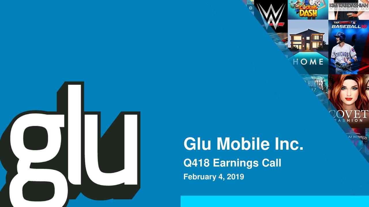 Q418 Earnings Call February 4, 2019