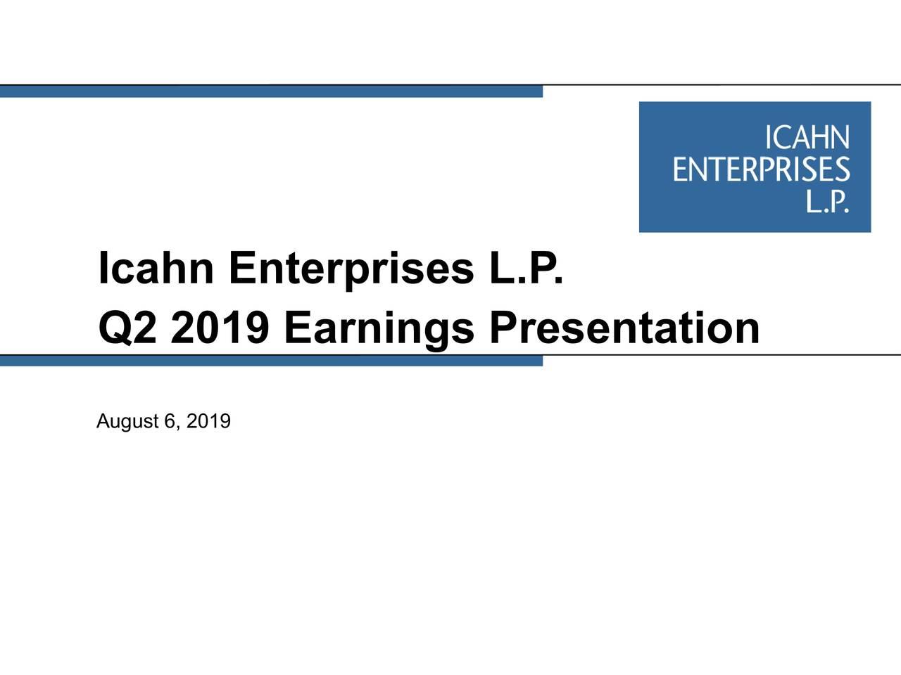Icahn Enterprises L.P       .